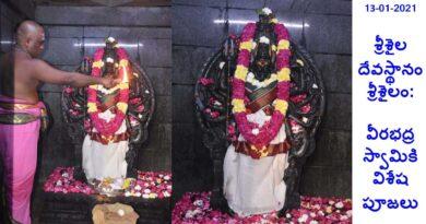 శ్రీశైల దేవస్థానం, శ్రీశైలం: వీరభద్రస్వామికి విశేష పూజలు